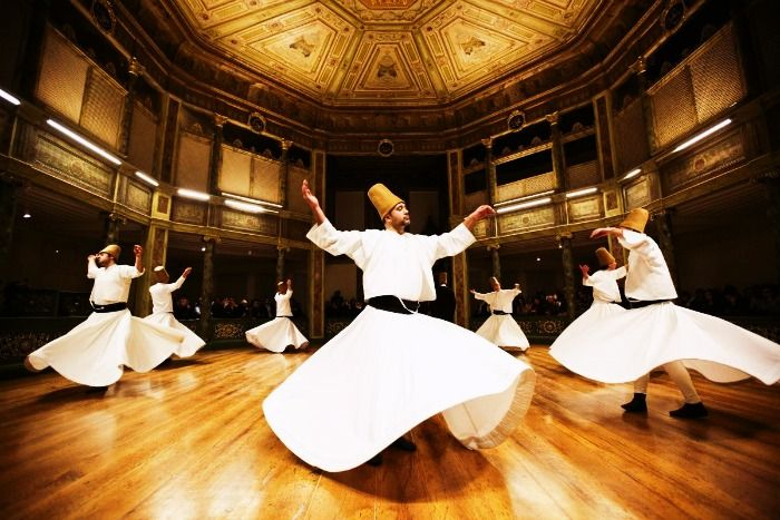 Whirling Dervishes in a traditional ceremony