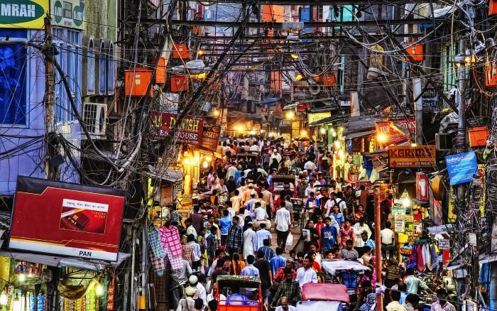 The crowded lanes of Old Delhi