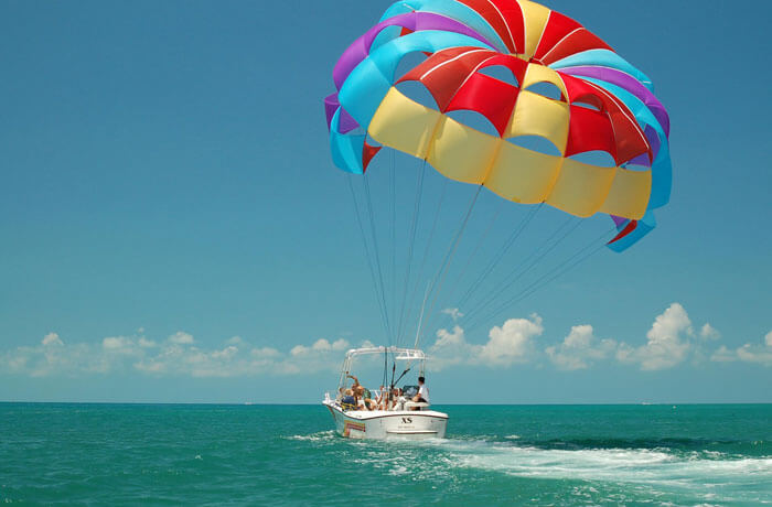 Parasailing- One of the best adventure sports in India