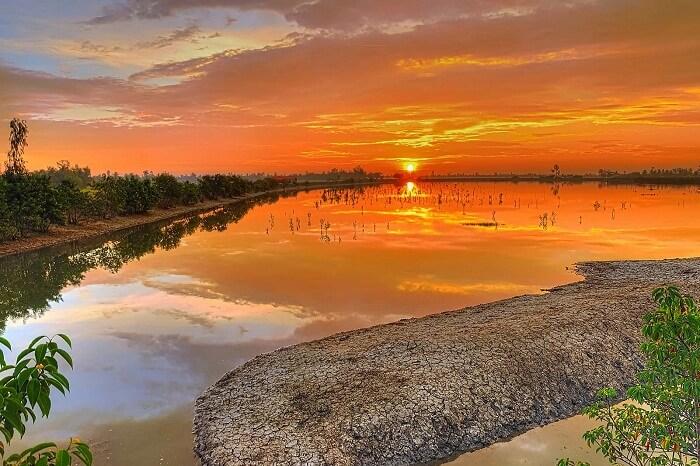 A beautiful sunset in Sunderbans