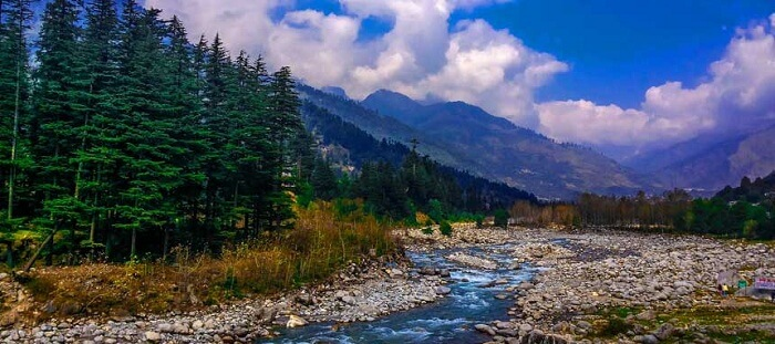 The beautiful view of Manali