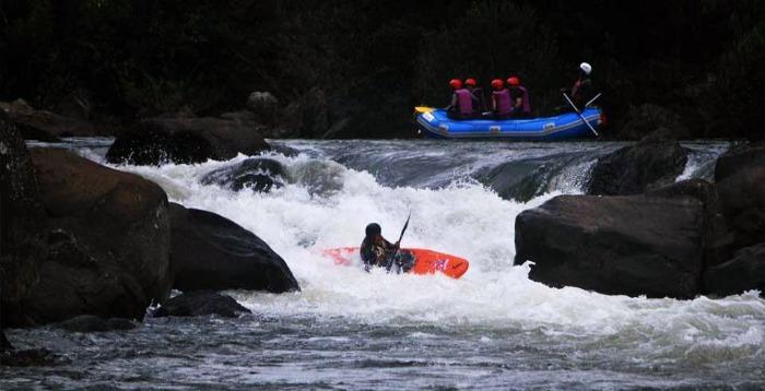 River rafting in Barapole River