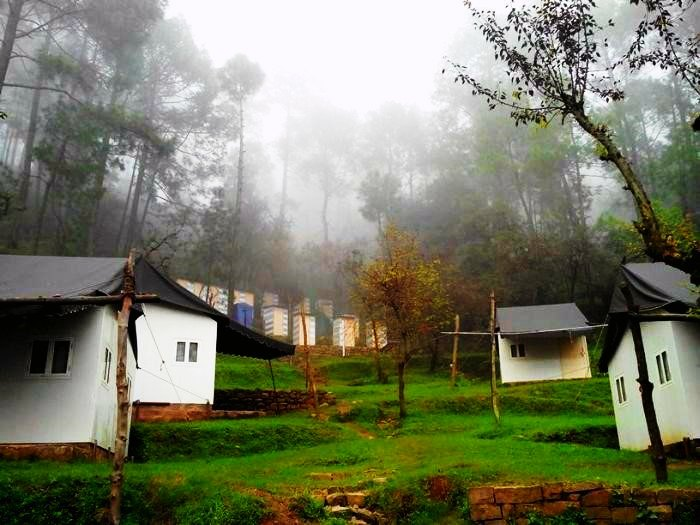 The main camp area of Camp Roxx, Himachal