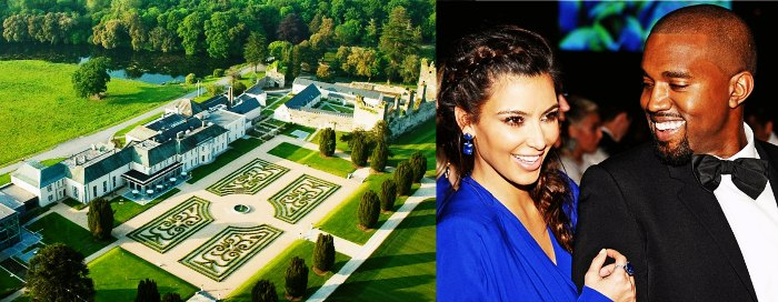 Bird's eye view of Castlemartyr Resort - honeymoon destination for Kim Kardashian and Kanye West