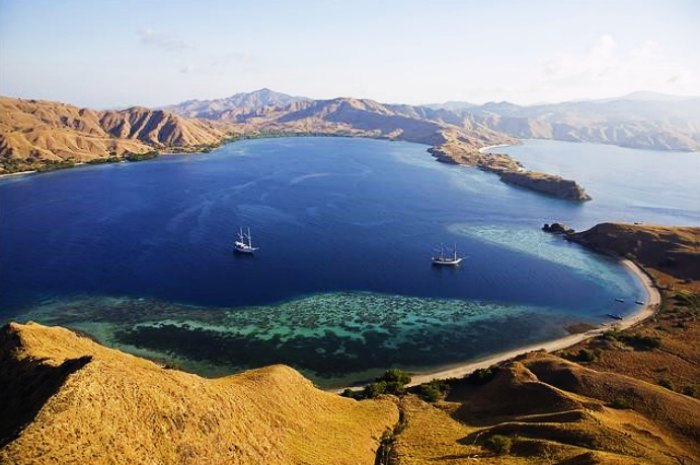 Island of Gili Lawadorat in Indonesia
