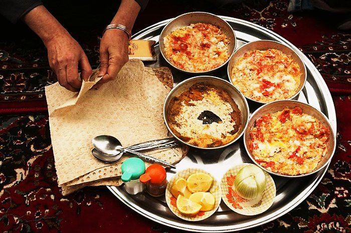 Iranian breakfast with Halim