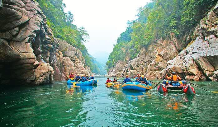 Kameng River is one of the best destination for river rafting in India