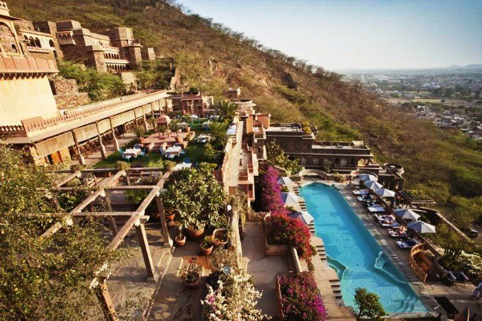 The panoramic view of Neemrana Fort Palace