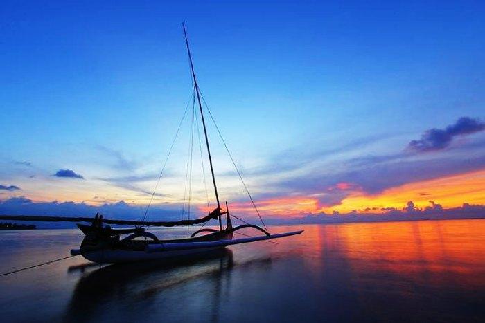 Sunset at Pasir Putih Beach