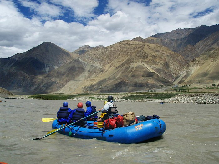 Rafting in Indus River
