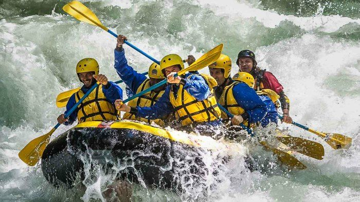 Rafting with friends in Rishikesh