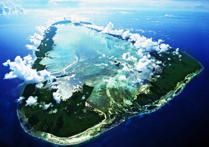 The panoramic bird's eye view of Seychelles