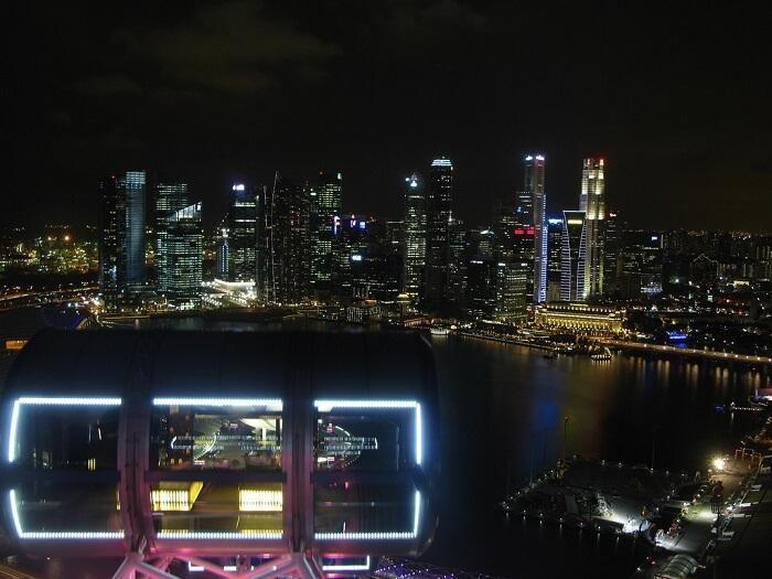dinner at singapore flyer