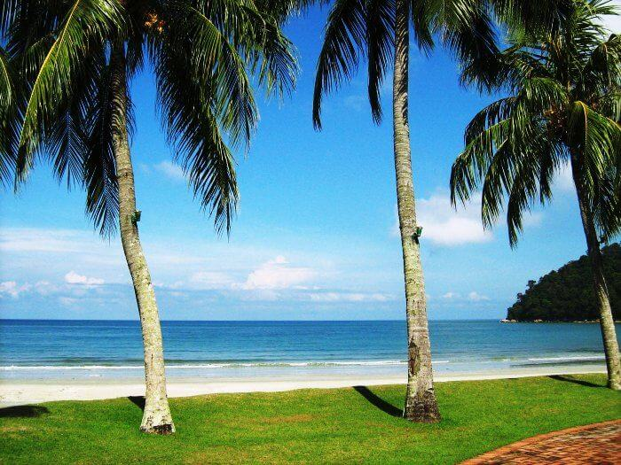 Batu ferringhi beach is a popular honeymoon destination in Malaysia