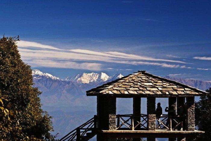 Zero point in Binsar, Uttarakhand