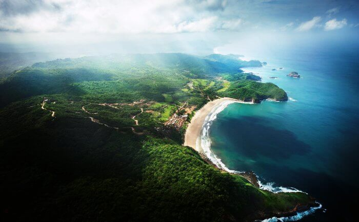 Bird's eye view of Nicargua