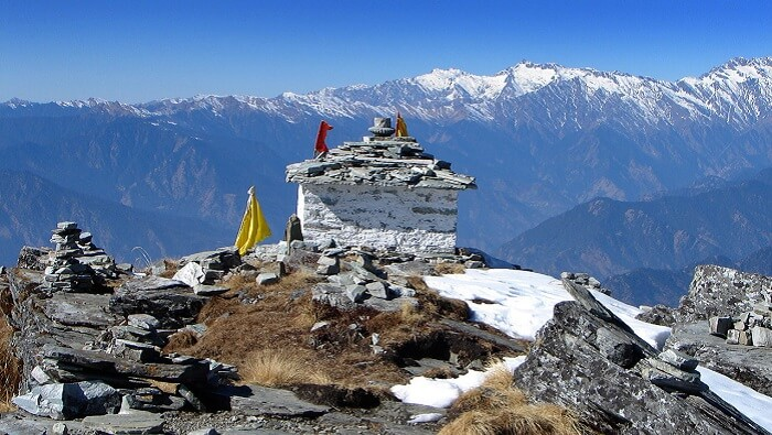 A mesmerising vies of the mountainscape in Chopta