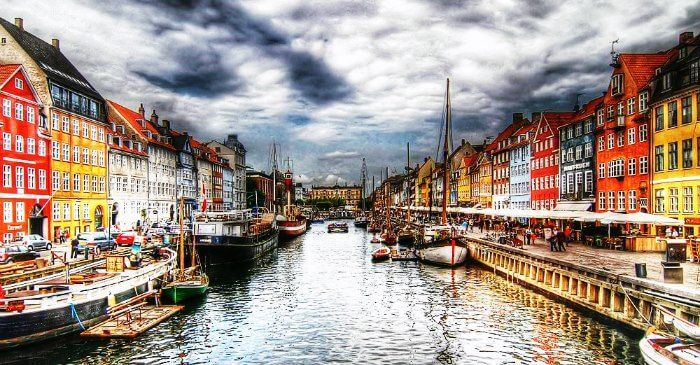 The scenic and colorful Copenhagen in Denmark