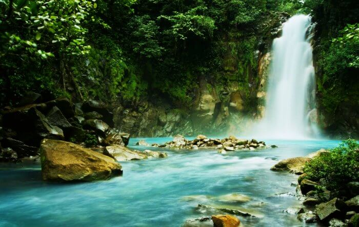 A waterfall in Costa Rica