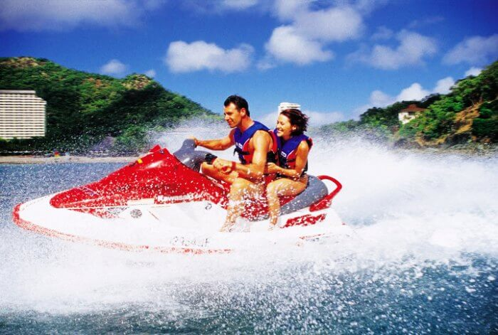 Jet Skiing tops the list for couples for Maldives water sports