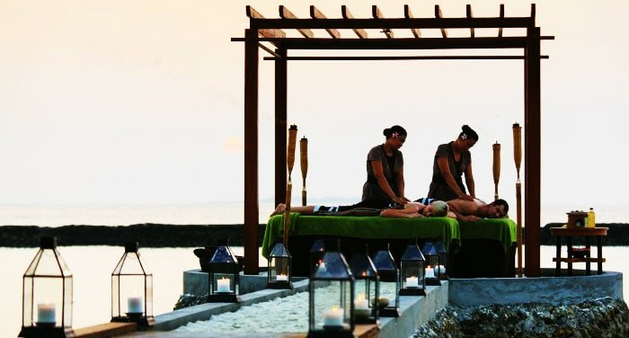 One of the best things to do in Maldives on honeymoon is to treat yourself & your partner to a couple's massage.