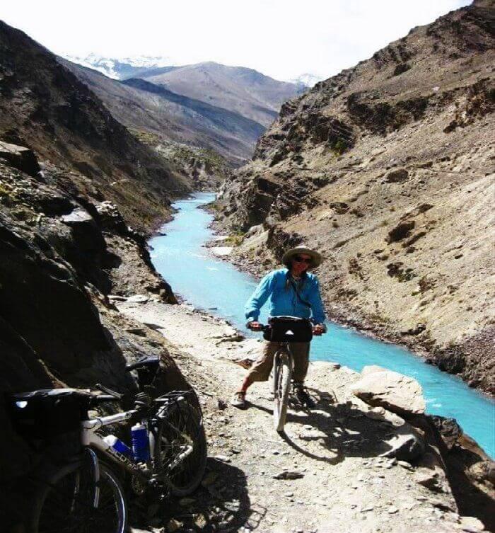 Cycling on the Zanskar trail