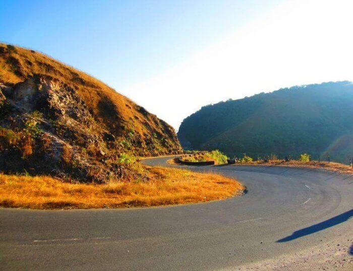 Cycling route from Shillong to Cherrapunji