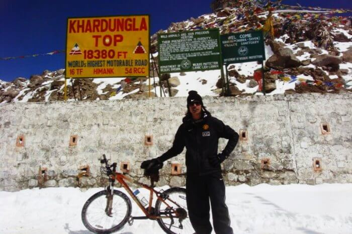One of the most difficult cycling routes in India-Leh-to-Khardung-La-Pass
