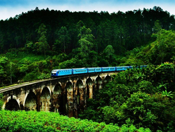 Demodara Nine Arch Bridge in Ella is one of th emost beautiful places to visit in Sri Lanka