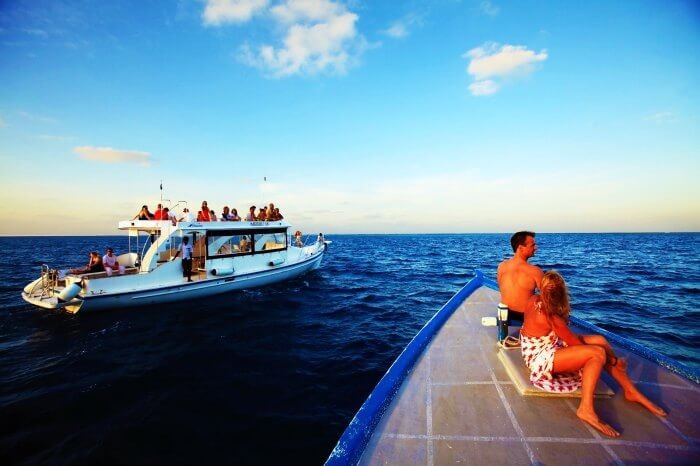 Safari boats in Maldives