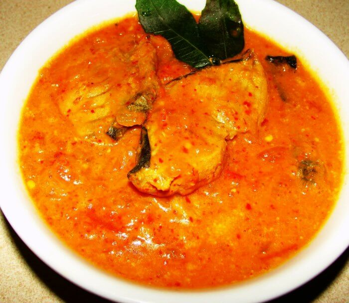 Delicious serving of the Goan Fish Curry