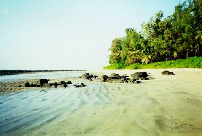 Kihim Beach in Alibaug during monsoons