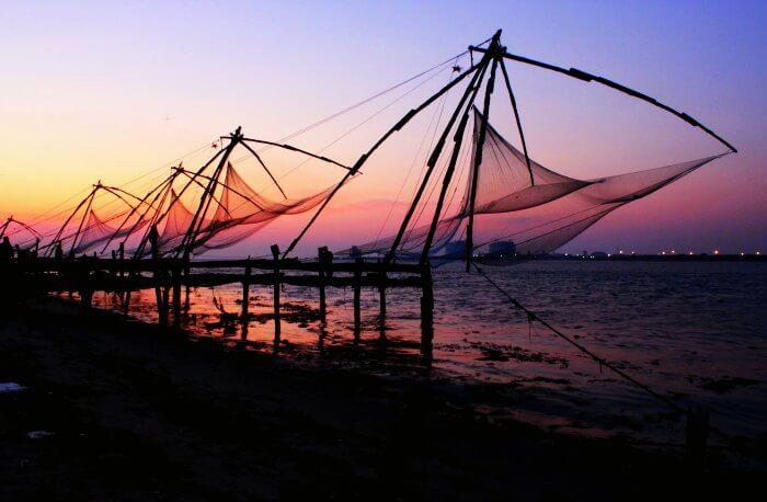 Gorgeous sunset views in Kochi