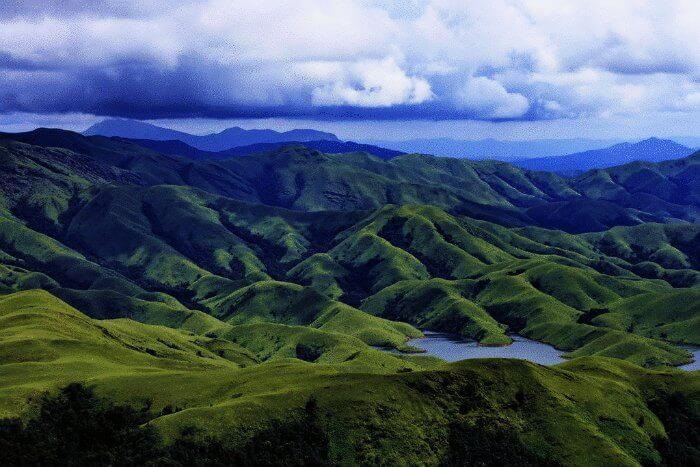 The panoramic view of Kudremukh valley