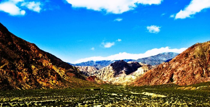 The beautiful rocky terrains of Mendoza