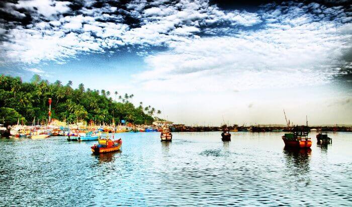 Mirissa Fisheries Harbor in Sri Lanka