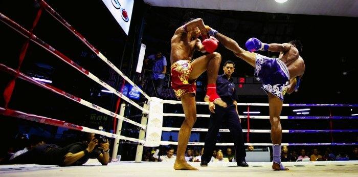 Muay Thai in Lumpini Stadium in Bangkok