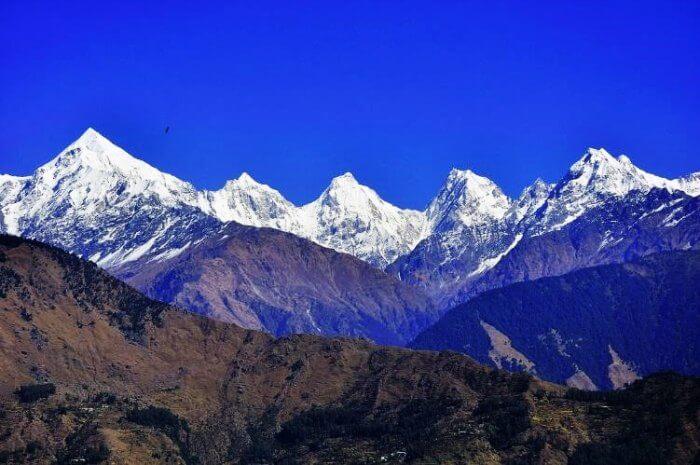 View of the Panchachuli from Munsiyari