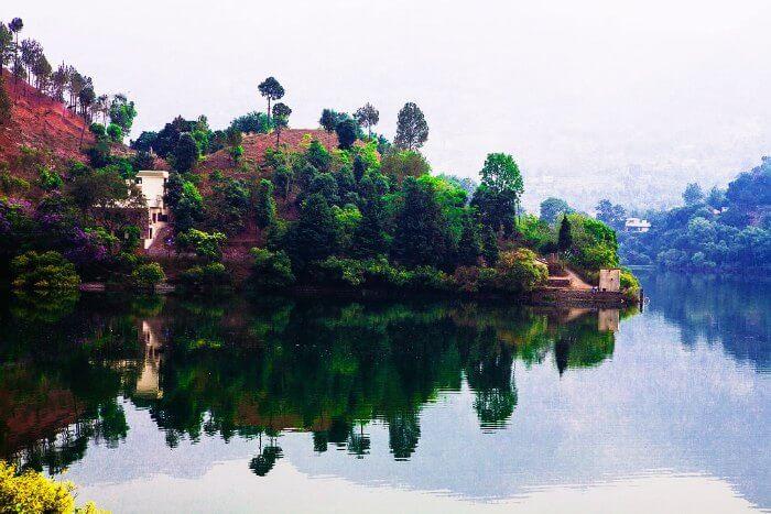 The surreal lake in Naukuchiatal, Uttarakhand