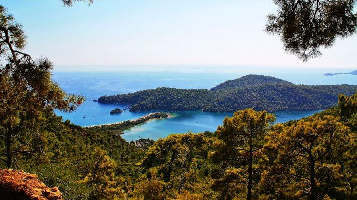 Oludeniz Lagoon is the best place for honeymoon in Turkey