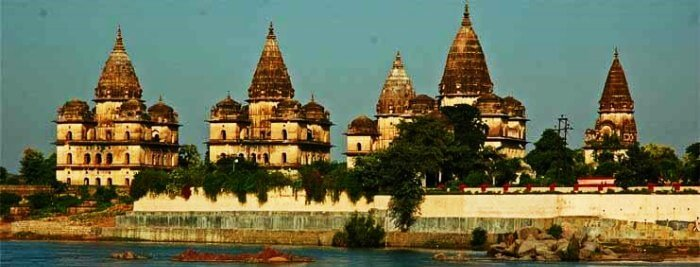 Temples in Orchha during monsoons