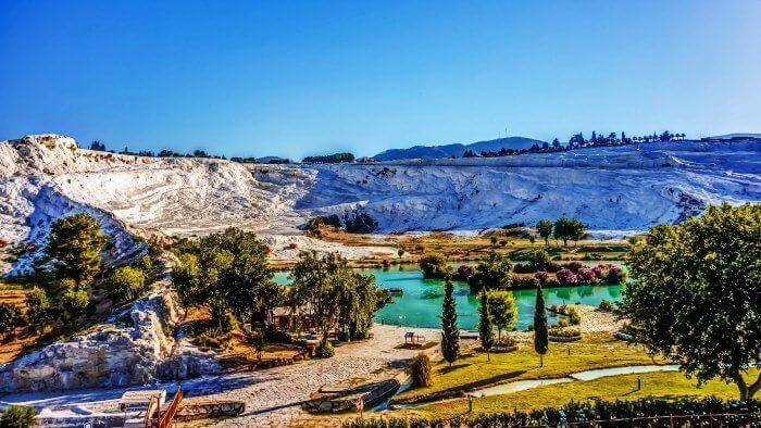 Head to Pamukkale in Turkey for honeymoon