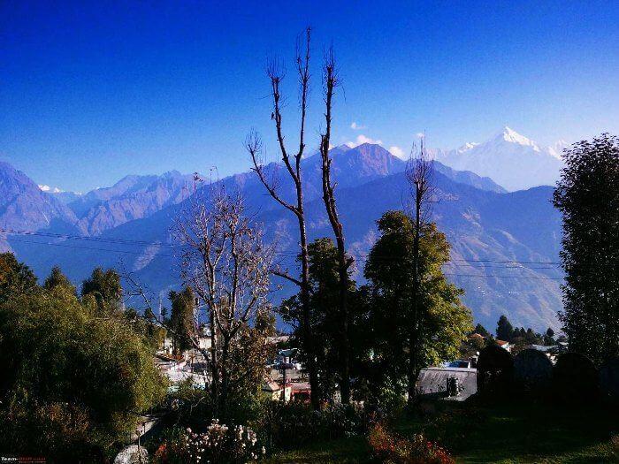The hilly terrains of Pangot in Uttarakhand