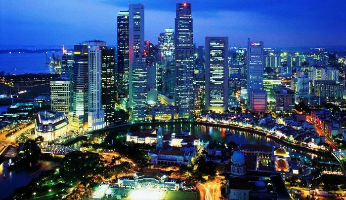 Another popular honeymoon place around the world - the dazzling city of Singapore
