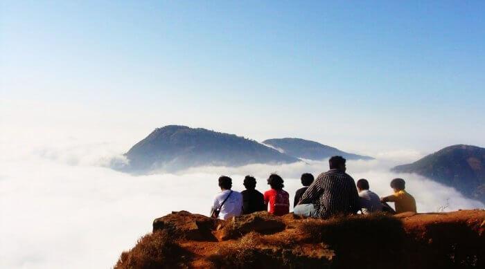 Walk over the clouds in Skandagiri