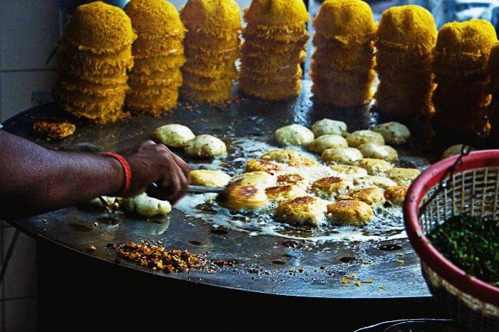 Street food in Old Delhi