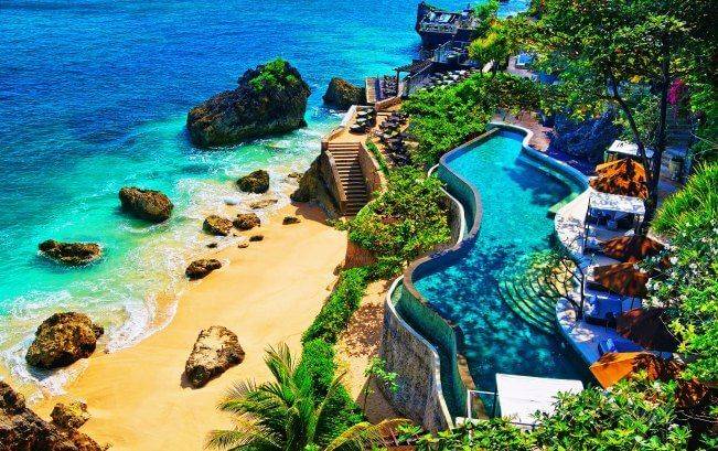 The panoramic top view of Ayana resort in Bali-Indonesia