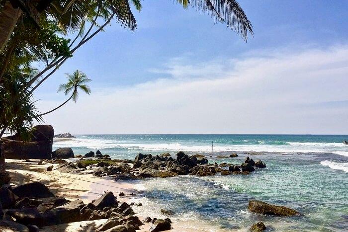 popular beach in Sri Lanka