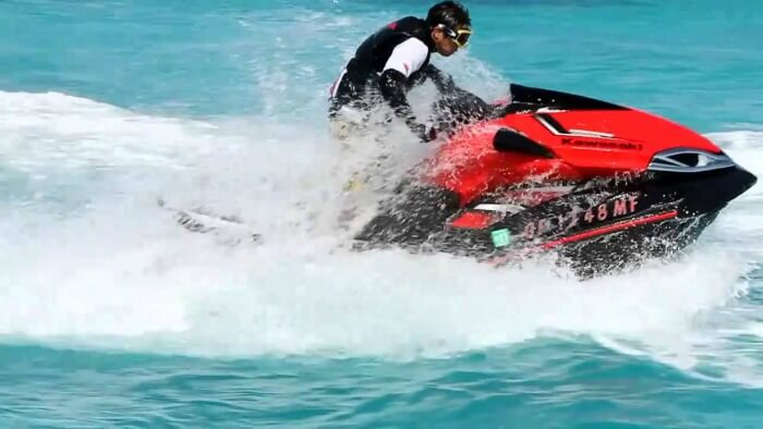Jet skiing is an amazing water sport in Andaman