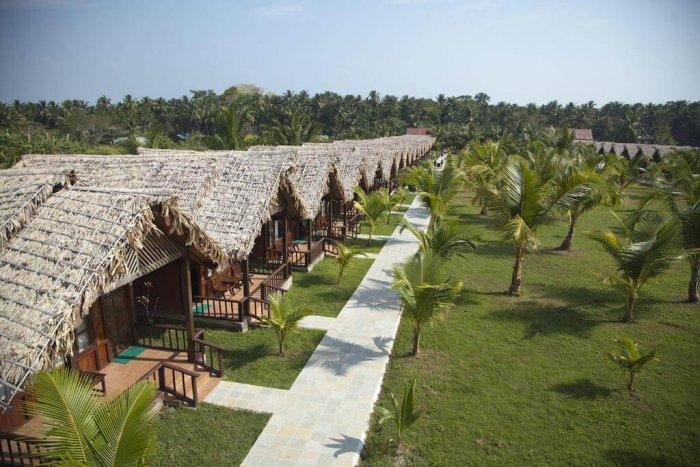 views of palms resort in andaman